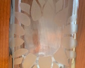 Custom Etched Glass Cigar Humidor Jar