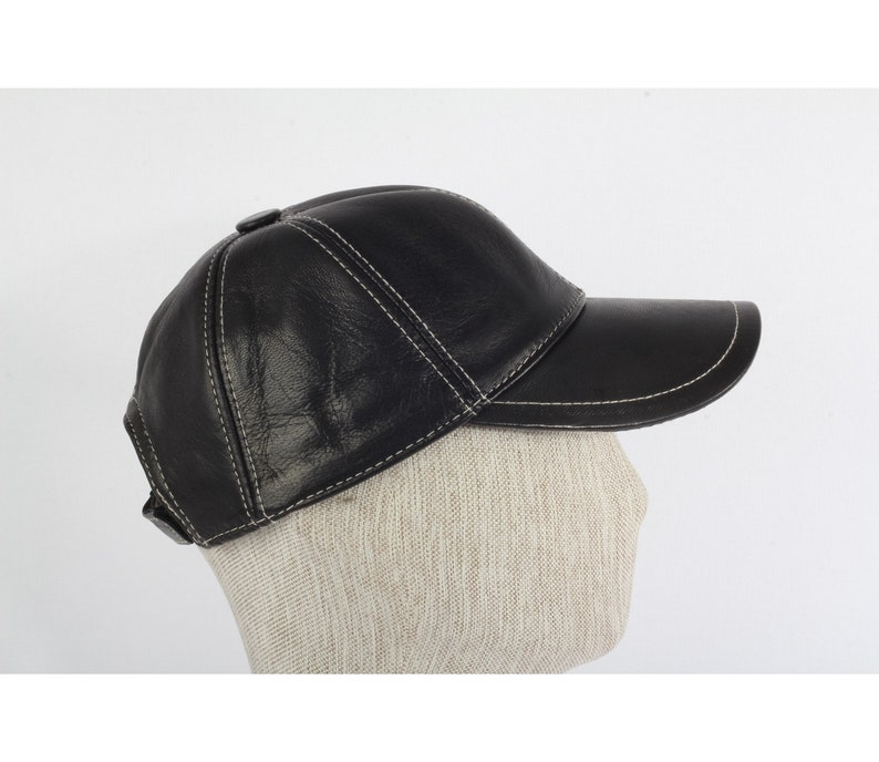Handmade Sports Hat Women Sport Sheepskin Hat Men Leather hat- Women Leather Hat Baseball Handmade Hat Men Sport Tan Color
