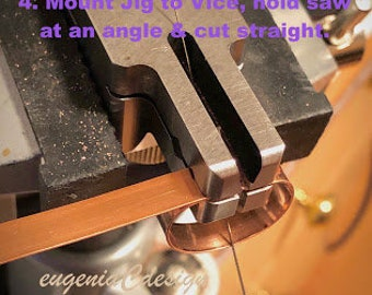 Multi-Angle Cutting Jig - Jewelry tool for creating clean and straight perfect 45 or 90 degree edges on metal strips, bezel wires or tubes