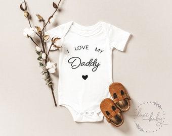 "Babybody Papa ""I love my Daddy"", Baby Body Papa Geschenk"