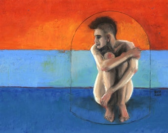 Male Nude Painting by SHYeomans