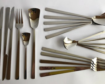 Hedmar Design cutlery set, 32 pieces, stainless steel 18-10, glossy, 90s