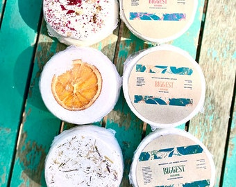 All-Natural Aromatherapy Bath Bombs, Large Naturally Scented Bath Bombs, Fizzy Bath Bombs, Organic Bath Care, PMS Pain Relief Bath Bombs