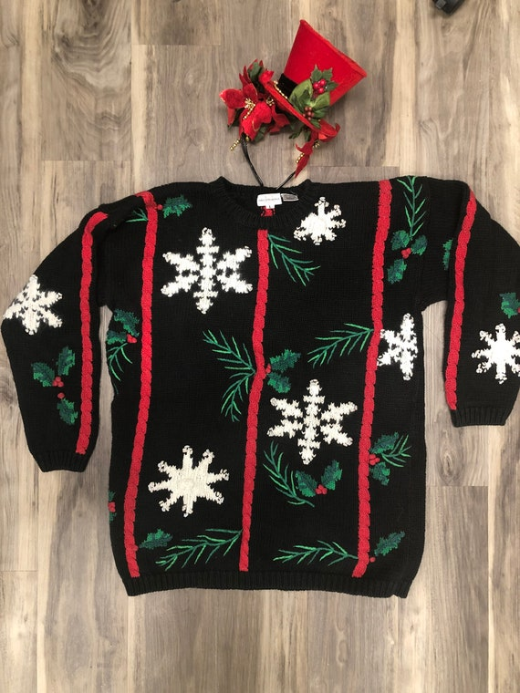 Ugly Christmas sweater, with matching headband/vin