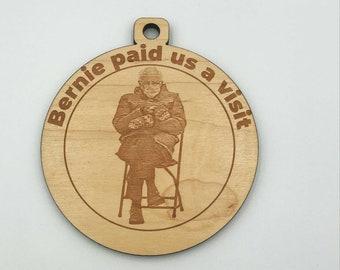 Bernie Sanders Ornament  - Laser Cut