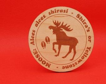 Laser Cut Shira's Moose Coaster - Alces alces shirasi | Yellowstone Moose | Alaskan Moose | North American Moose | Canadiana | Magestic Elg