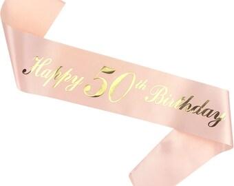 50th Birthday Sash