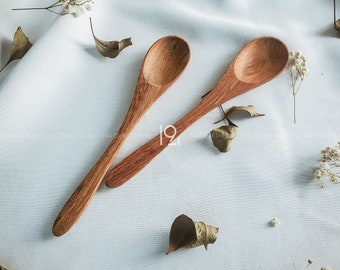 Wooden Spoon Handmade for New Home Gifts, Vintage  Christmas Party Decorations Outdoor, Natural Serving Spoon Wood Table Kitchenware Utensil