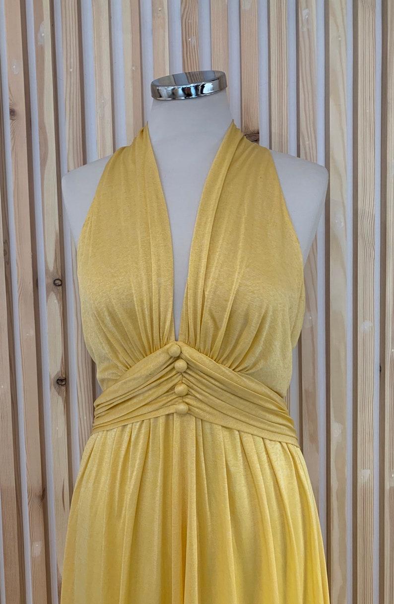 1970s John Charles halter neck maxi dress.