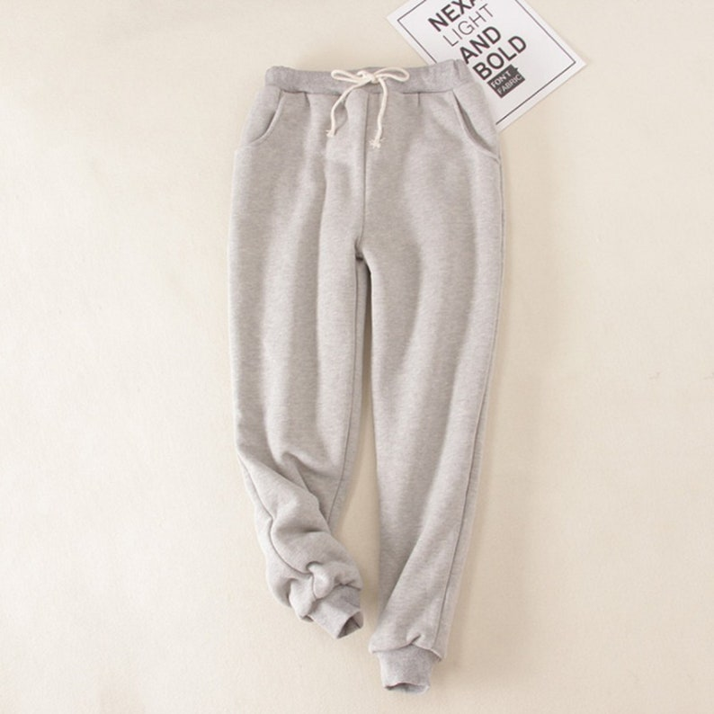 NEW Winter Women Casual Velvet Pants Women Thick Warm Fleece Trousers Lady Solid Running Sport Gym Sweatpants Pantalones Mujer