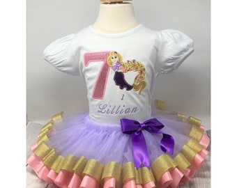 Rapunzel Birthday Outfit Princess Outfit First Trip Shirts Rapunzel Shirt Rapunzel Outfit Princess Outfits for Girls Princess Shirt