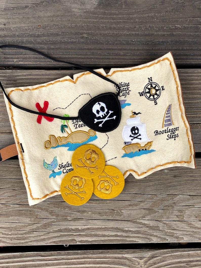 Felt Pirate Map Set