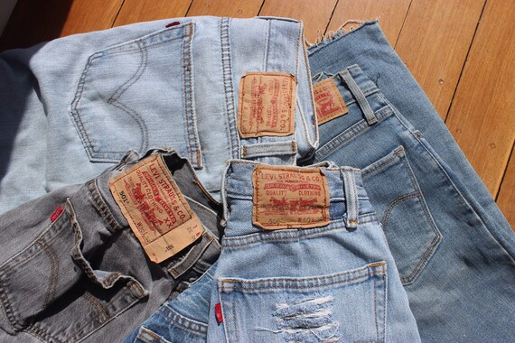 VINTAGE LEVIS - jeans + skirt