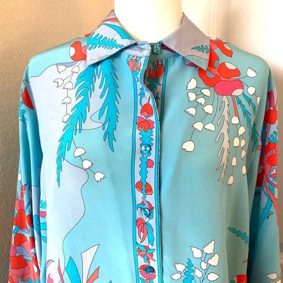 Averado bessi artwork silk blouse