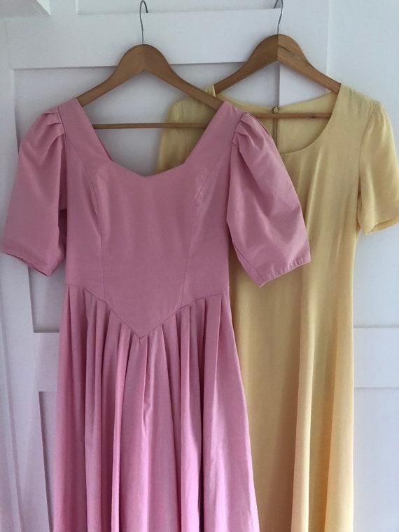 Vintage 1980's Laura Ashley Pink Dress