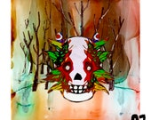 Hand Painted Ceramic Coaster (10cm) - Emotional Lanscapes - MadeByOZ