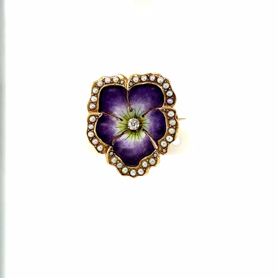 Estate Pansy Brooch