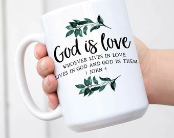 Mothers Day Gift Mothers Day Coffee Mug Religious Gift Religious Mug God Is Love