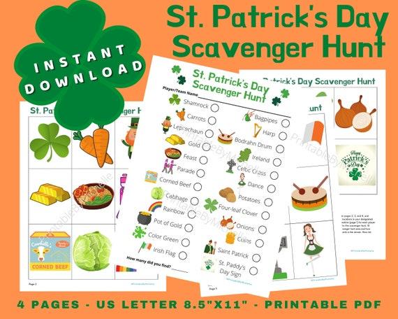 St. Patrick's Day Scavenger Hunt Printable Instant