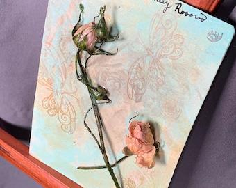 Original - Blushing Bright - Floral Art