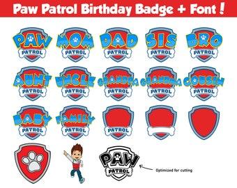 paw patrol shield svg