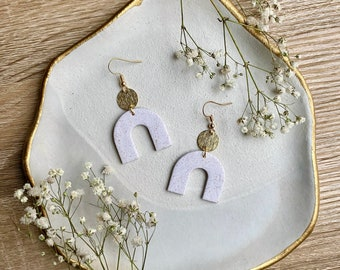 REINA Mini Arch Earrings / Polymer Clay Earrings / Statement Earrings / Modern Earrings / Gold Earrings / Girlfriend Gift / Bridesmaid Gift