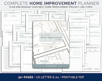 Home Renovation Planner, Renovation Planner, Home improvement planner, Printable Remodel planner, Home planner, Home project planner