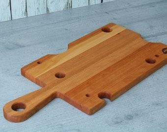 Cheese board made of cherry tree, cheese board, tabla de queso