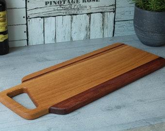 Charcuterie board, oak and bubinga serving board