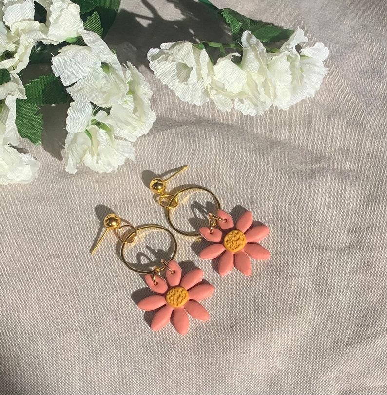 Flower Earrings Summer Floral Earrings Daisy Earrings Spring Earrings for Women