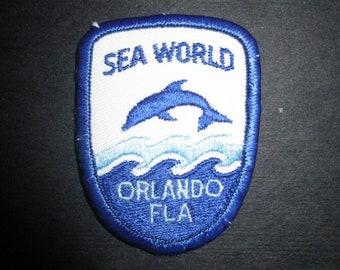 Sea World Orlando Florida Vintage Souvenir Travel Patch