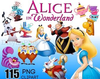 Alice in Wonderland Clipart Digital Download PNG transparent backgrounds
