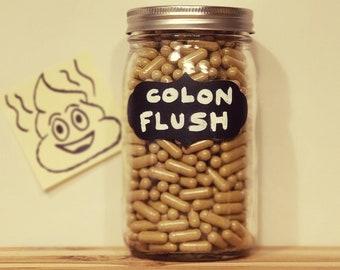 COLON FLUSH - Herbal Colon Cleanse | Bowel Cleanse | Chelation | Constipation Relief | Digestive Aid + Laxative | Organic | Vegan Capsule