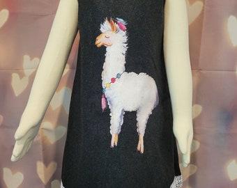 Girls Llama Tunic