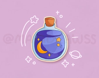 Starry Potion Stickers! cute aesthetic vinyl astrology stickers for hydro flask, phone, laptop, iPad