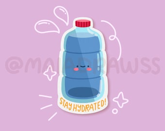 Stay Hydrated stickers! cute aesthetic vinyl soda drink stickers for hydro flask, phone, laptop, iPad