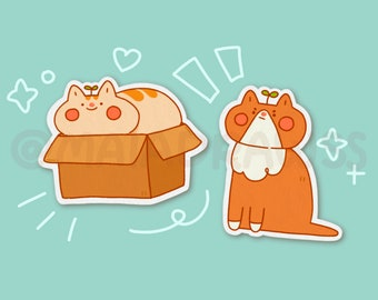 House Cats Stickers! cute vinyl chonky cat pet animal sticker for hydro flask, phone, laptop, iPad