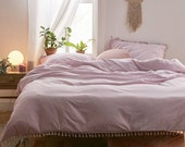 Beautiful fringes 100 pure cotton Duvet cover handmade, Bohemian Bedding Cotton Exclusive Duvet Cover, Comforter