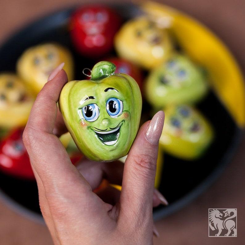 Ceramic Vegetables and Fruits Kitchen Decor Handmade Figurines