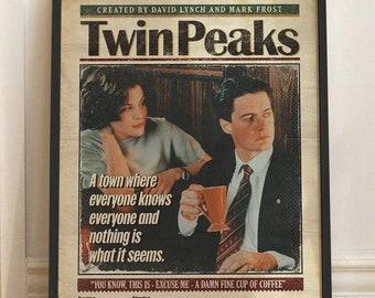 Twin Peaks poster - Tv Series poster - David Lynch - Tv Series poster, Twin Peaks art, Crime Poster print, Twin Peaks Minimal poster