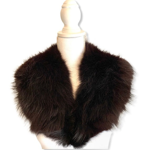 Vintage Fox Fur Shawl Collar