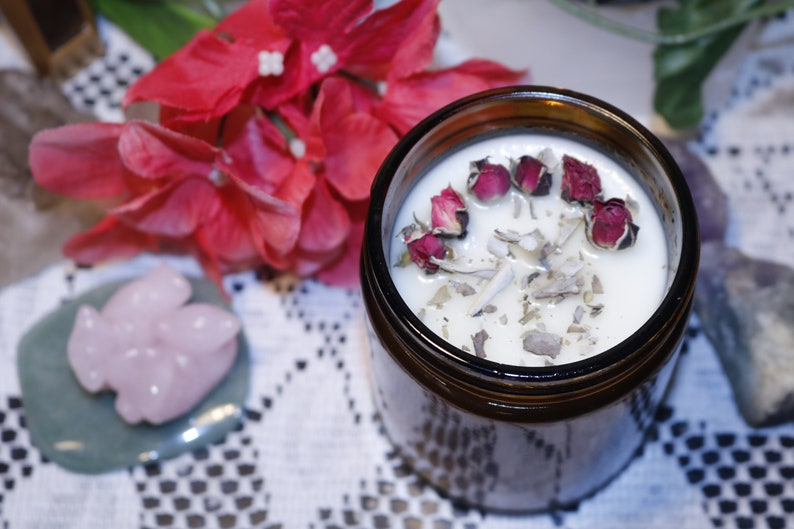 Enchanted Smudge Candle Soy Wax Candle Soy Candle Smudging image 0