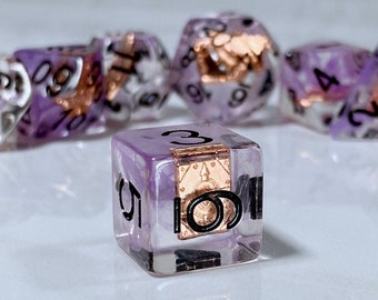 Tome Dice, Warlock Dice, Wizard Dice, Encounter Dice, Dnd Class Themed Dice, Polyhedral Dice for RPG and Pathfinder