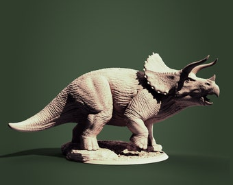 Triceratops, Jurassic Tribe, Dinosaur, Dnd, Resin Miniature, 3D printed mini