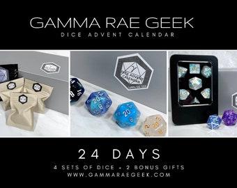 Dice Advent Calendar, 2021 Christmas Dice Box