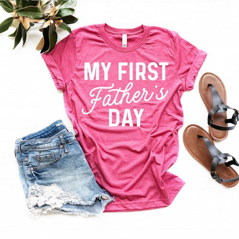 My First Father Day T Shirt Shirt For Father Father/'s Day Shirt Dad Gift Father/'s Day Gift Dad Shirt Funny Dad Shirt