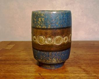 Mid Century Modern Stoneware Vase  Tomas Anagrius   Swedish Handmade Ceramic pottery Sunflower  Made in Sweden  Alingsas Keramik