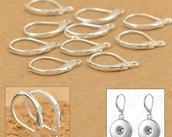 10 PICS 5 PAIRS 925 Sterling Silver lever back clip earring ear hooks