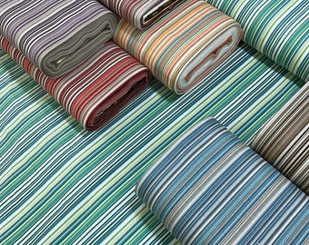 Stripe Upholstery Fabric, Cotton Drapery Fabric, Outdoor Waterproof Fabric, Canvas Fabric for Bags, Furniture Chair Sofa Decor Fabric Yard
