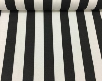 Black and White Stripe Fabric, Outdoor Upholstery Fabric, Monochrome Fabric, Canvas Decor Drapery Curtain Furniture Pillow Couch Fabric Yard
